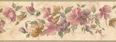 Floral Wall Paper Border CR72841N ...