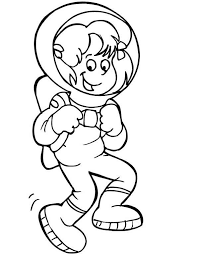 Small Picture An Astronaut Girl Doing a Moon Walk Coloring Page Download