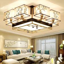 Chinese style living room ceiling Ceiling Light Modern New Chinese Style Ceiling Lamp Rectangular Living Room Lamp Retro Embroidery Bedroom Study Dining Room Lamps Decor Ideas Usd 22039 Modern New Chinese Style Ceiling Lamp Rectangular Living
