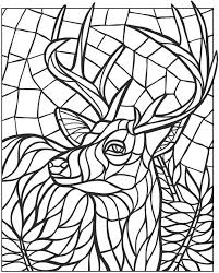 Small Picture Pages Deer Mandalas Dover Coloring Coloring Books Animal Mosaics