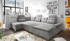 U Form Wohnlandschaft U Form Bettsofa Schlafcouch Links Nalo