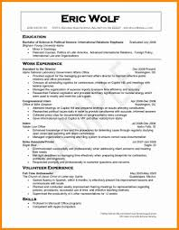 Impressive Ideas Volunteer Resume Sample 1 Samples Cv Photo Examples