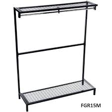 top freestanding garment hanging unit with mesh shoe rack shelf free standing clothes rack free standing