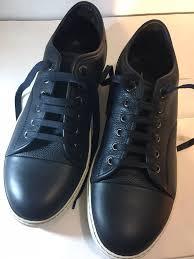 Lanvin Shoes Size Chart Lanvin Mens Sneaker Low Top Navy Blue Leather Us Size 8 Uk
