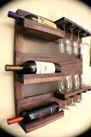 diy wall mounted wine glass rack