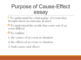 cause effect essay mass lecture  3 purpose of cause effect essay