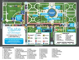 taste of chicago map 2016