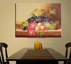 painting for dining room. Handmade Still Life Painting Modern Fruit Artwork Wall Art On Canvas Grapes Dining Room Decor Pictures For Living Room-in \u0026 Calligraphy