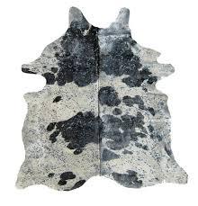 cowhide rug with metallic splash