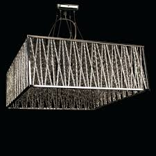 rectangle crystal chandelier 19th c rococo iron clear rectangular diy modern linear island dining room rectangle