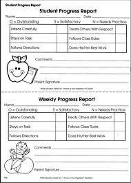 Printable Progress Reports For Elementary Students Printable Weekly Preschool Progress Reports Yahoo Image