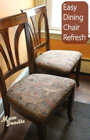 reupholstering dining chairs an easy inexpensive way to spruce up your home before the holidays