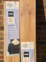 homebase textured wood effect laminate flooring rustic birch x2 packets
