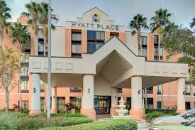 the building where the hotel is located the swimming pool at or near hyatt place tampa busch gardens
