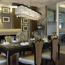 rectangular crystal chandelier dining room modern rectangle dining room chandeliers decolover