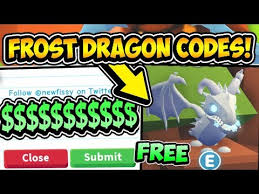 Maybe you would like to learn more about one of these? All Free Frost Dragon Adopt Me Pet Codes 2021 Frost Dragon Adopt Me Roblox Youtube