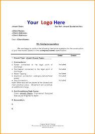 6 Quote Letter Template Cook Resume