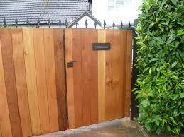 steel framed wooden gates