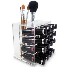 ... Ikee Design Premium Acrylic Lipstick & Brush Holder Makeup Organizer  ...