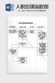 Simple On The Job Training Flow Chart Word Template Word