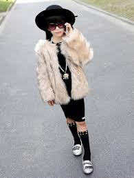 2016children faux fur coat baby girls autumn winter warm short full solid coat clothes kids faux