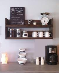 Kitchen Shelf Rustic Kitchen Shelf Coffee Shelf Coffee Bar Shelf