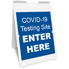 COVID-19 Testing Site Enter Here A-Frame Sign   Graphic Products