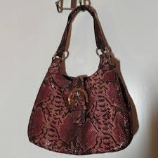 Coach Soho Embossed Exotic Leather Hobo F17419