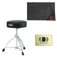 tama ht130 standard double braced leg throne with drum rug and polishing cloth