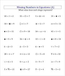 22 Sample Missing Numbers Worksheet Templates   Free PDF Documents ...