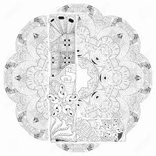 Adult Coloring Book Mandala Awesome Hand Painted Art Design Adult