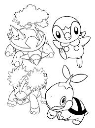 Pokemon Paradijs Kleurplaat Torterra Piplup Grotle Turtwig