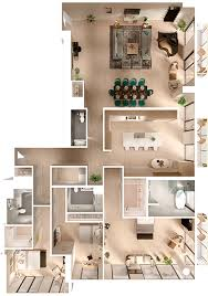 riverhouse apartments floor plan s1