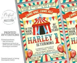 Carnival Birthday Party Invitations With Image 0 For Prepare Amazing