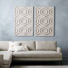 graphic wood wall art whitewashed hexagon  on funky wall art australia with modern contemporary wall art west elm