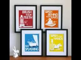 diy bathroom wall decor. Brilliant Wall Diy Simple Bathroom Wall Art Interior Decorations Ideas Youtube Intended  For Pictures Plan 19 To Decor