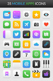Apps Symbol Free Mobile App Icon Set For Illustrator Photoshop