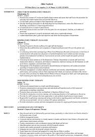 Respiratory Therapist Resume Templates Respiratory Therapy Resume Samples Velvet Jobs 7