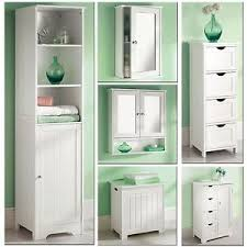 white wooden bathroom furniture. Image Is Loading White-Wooden-Bathroom-Cabinet-Shelf-Cupboard-Bedroom- Storage- White Wooden Bathroom Furniture T