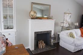 diy faux fireplace mantel cardboard ideas