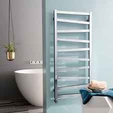 bauhaus wedge heated towel rail