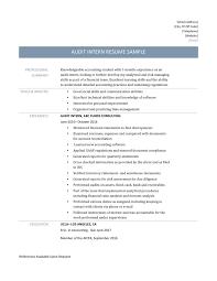 Audit Intern Resume Samples Online Resume Builders Medium