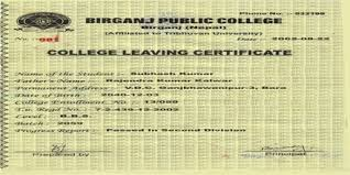 Sample Application For College Leaving Certificate