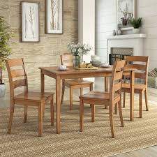 image lexington 5 piece dining set with 4 ladder back chairs