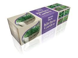 Herb Kitchen Garden Kit Grow Your Own Wooden Pots Herbs Seeds Indoor