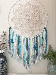 Giant Dream Catchers Giant dream catcher extra large dream catcher turquoise 1