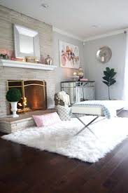 fur rugs white