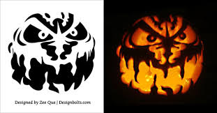 Pumpkin Carving Patterns Impressive 48 Free Printable Scary Pumpkin Carving Patterns Stencils Ideas 48