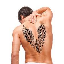 Voděodolné Rameno Zpět Křídel Křídlo Krásné Body Art Muži Flash Kovové Dočasné Tetování černé Tetování Samolepky Velké Velikost