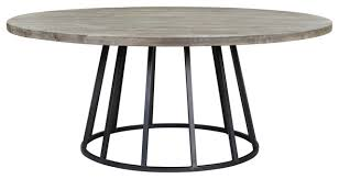 knox 72 round dining table storm gray reclaimed wood